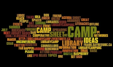 #librarycampUBC Camp is coming!