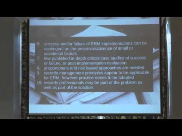 Julie McLeod – Tackling the wicked problem of managing records in the digital environment