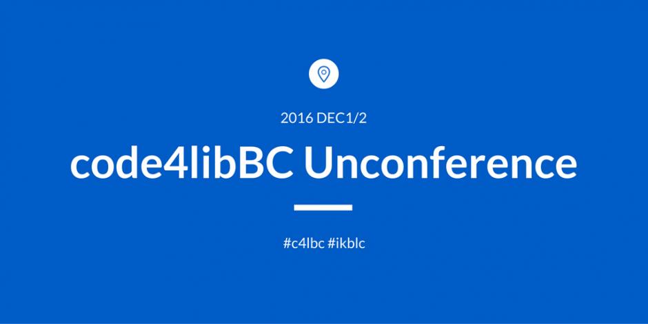 code4libBC Unconference