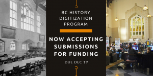 BC History Digitization Program Now Accepting Submissions for Funding