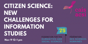 Citizen Science: New Challenges for Information Studies