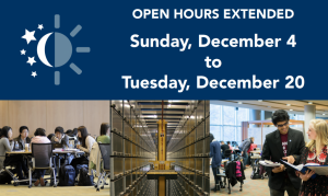 Extended Hours at the Irving K. Barber Learning Centre