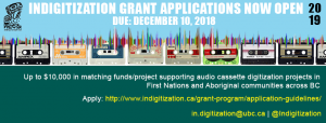 Indigitization Grant Applications Open