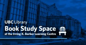 Book Study Space at the Irving K. Barber Learning Centre